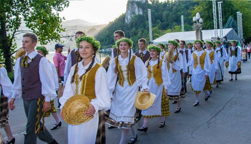 Festival de folklore en Bled, Eslovenia