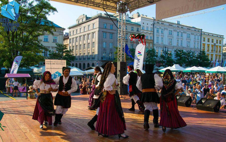 Folklore festival in Krakow, Poland